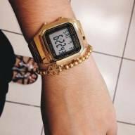 375385a0a2e Relógio Casio Vintage Tamanho Grande Dourado My Way Gravina